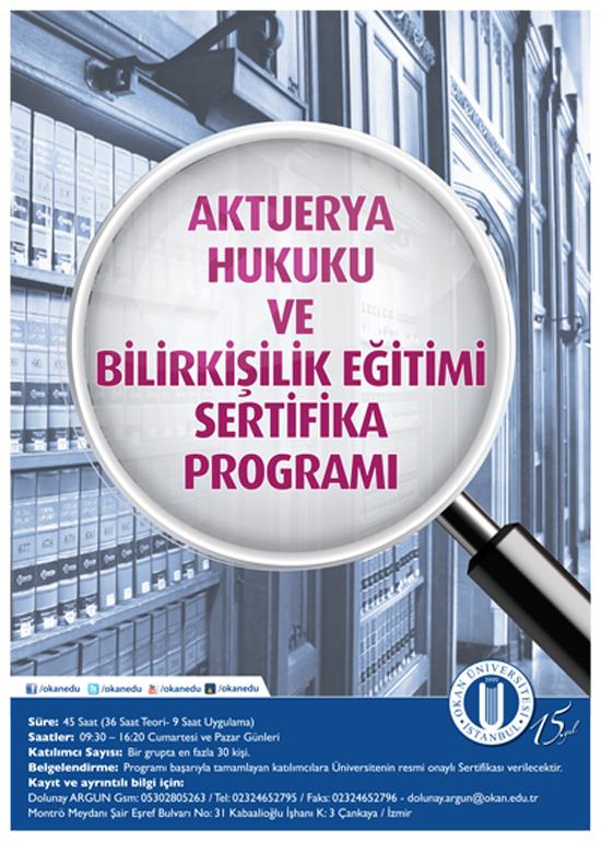 Aktuerya Hukuku Uzmanlığı Sertifika Programı