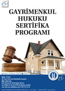 Gayrimenkul Hukuku Sertifika Programı / BURSA
