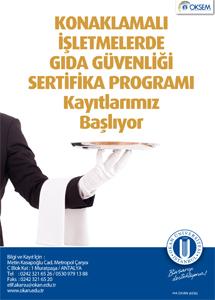 Konaklamalı İşletmelerde Gıda Güvenliği Sertifika Programı / İSTANBUL