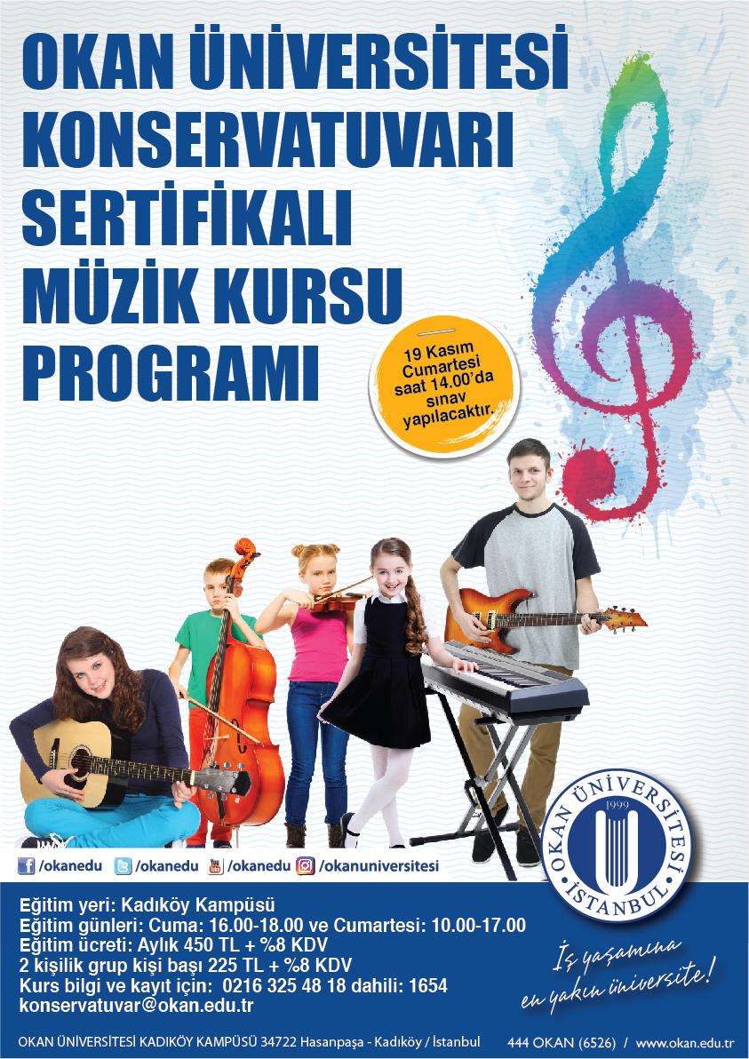 Okan Üniversitesi Konservatuvarı Sertifikalı Müzik Kursu